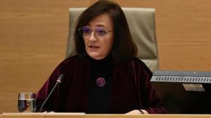 La presidenta de la Autoridad Independiente de Responsabilidad Fiscal, Cristina Herrero, durante unacomparecencia en el Congreso.
