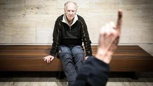 Werner Herzog, justo antes de su conferencia en el CCCB, dentro de Kosmopolis.