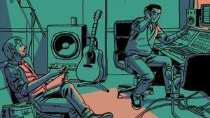 Detalle de la portada de 'La encrucijada', de Paco Roca y José Manuel Casañ.