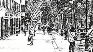 Huir de la ciudad, por Eva Arderius, ilustración Conte.