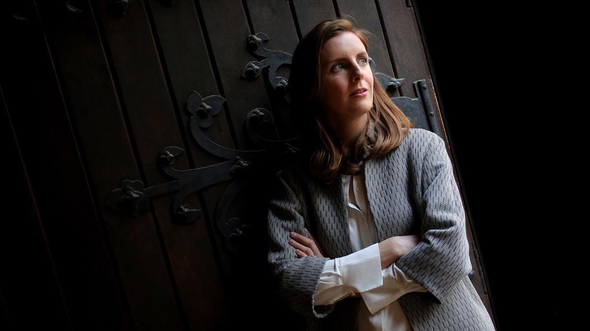 Catherine Nixey, durante su visita a Madrid de promoción de 'La edad de la penumbraMadrid'.