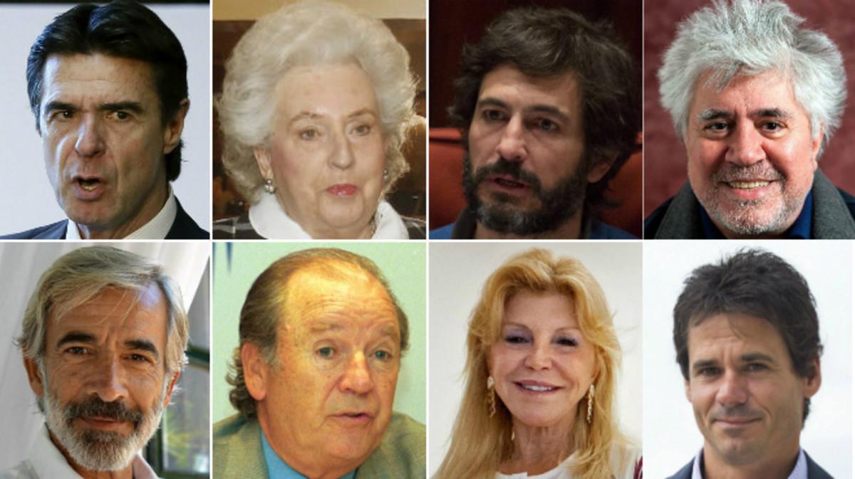 Algunos de los españoles que aparecen en los 'papeles de Panamá'.