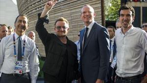 Bono, contra la fam a l'Expo de Milà