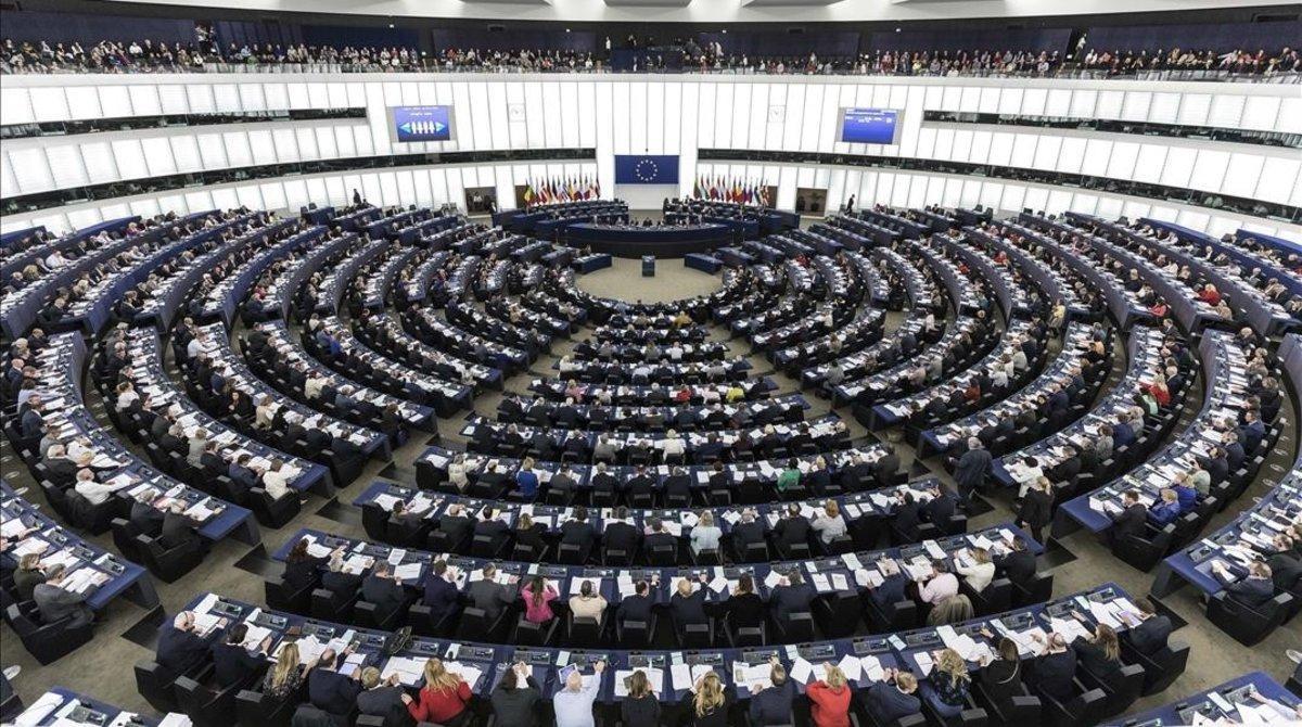 El hemiciclo del Parlamento Europeo en Estrasburgo