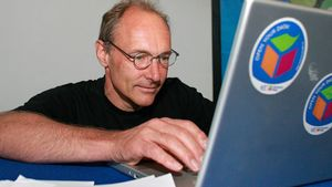 Tim Berners-Lee, considerado el padre de la World Wide Web, en Valencia en el 2008.
