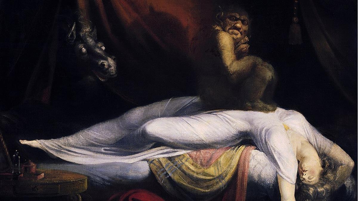 La pesadilla de Henry Fuseli(1781) representa un episodio de parálisis del sueño con alucinaciones. En la obra se representa un demonio oprimiendo el vientre de la durmiente