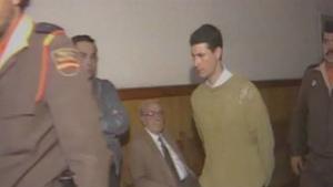 Antonio Anglés durante el juicio por el secuestro y tortura de Nuria Pera (celebrado antes del triple crimen).RTVV