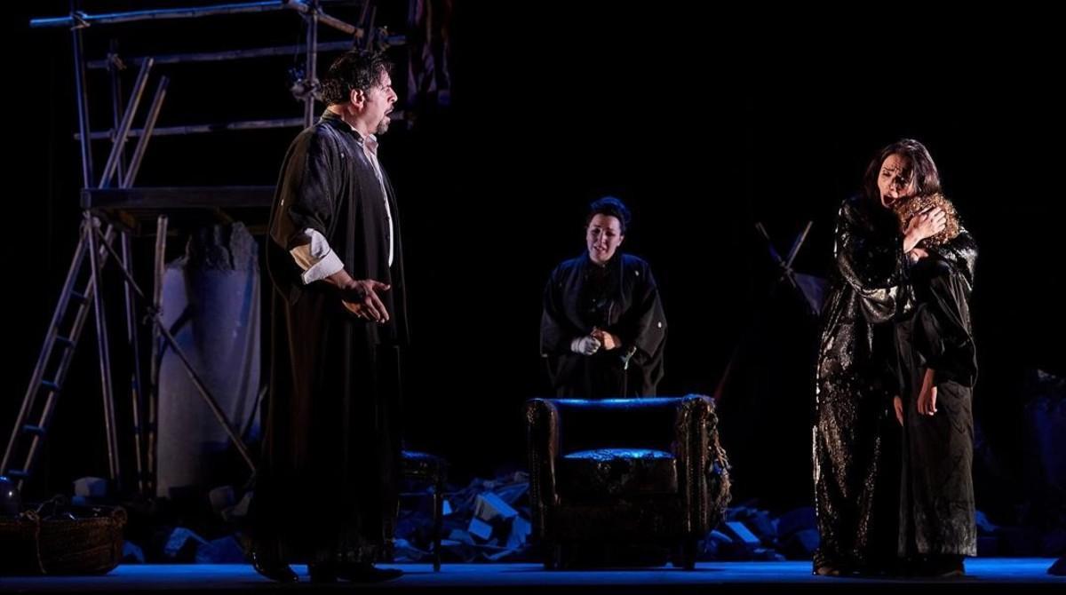 Uno de los momentos de la interpretación de 'Madama Butterfly', en Peralada.