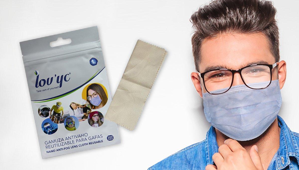 Camussa antibaf reutilizable per a ulleres