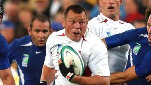Steve Thompson, durante un partido del Mundial del 2003 en Australia. Dice no recordar haber ganado el campeonato.
