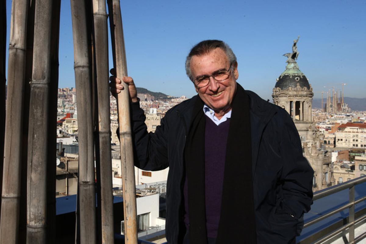 Manolo Escobar, en el hotel Calderón, el pasado domingo, tras su actuación en Girona.