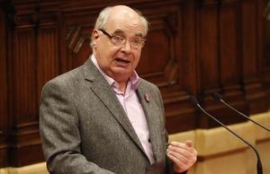 Lluís Rabell, en el Parlament.