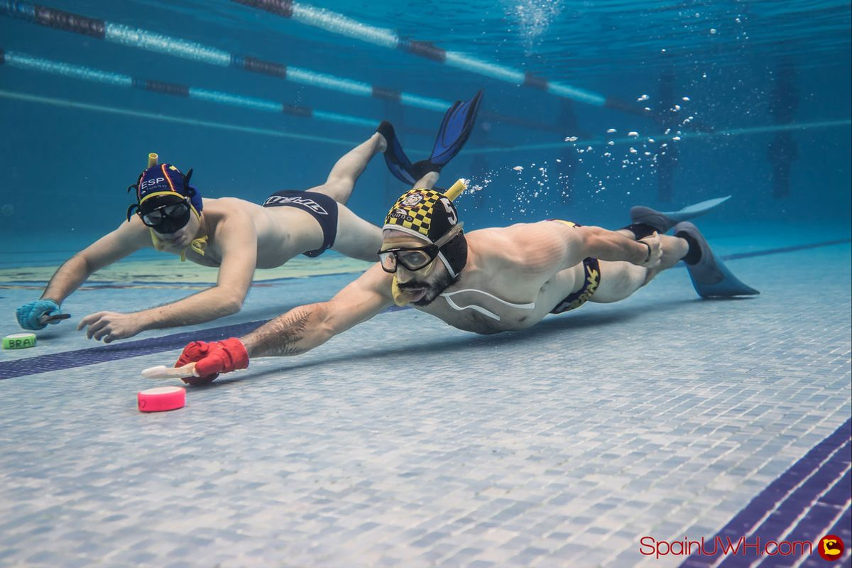 Hockey-subacuático en 'Deportes imposibles', de A&E.