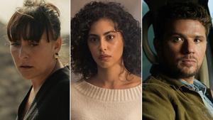 Candela Peña en 'Hierro', Mina El Hammani en 'El internado: las cumbres' y Ryan Phillippe en 'Big sky'.