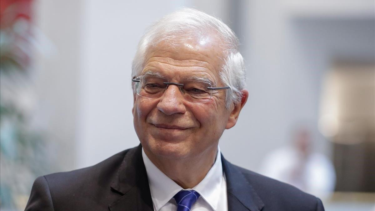 Josep Borrell, este miércoles en Bruselas.