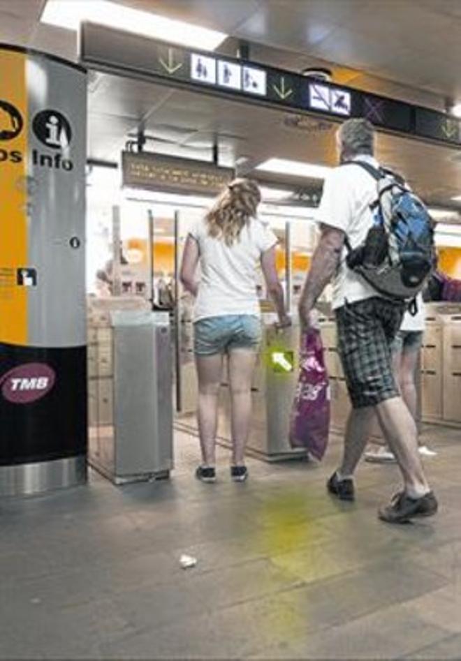 TRANSPORTE PÚBLICO.La estación de Catalunya, del metro de Barcelona.