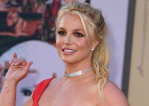 Britney Spears, a su llegada a la 'premier' de 'Érase una vez en Hollywood', en el Teatro Chino de Hollywood.