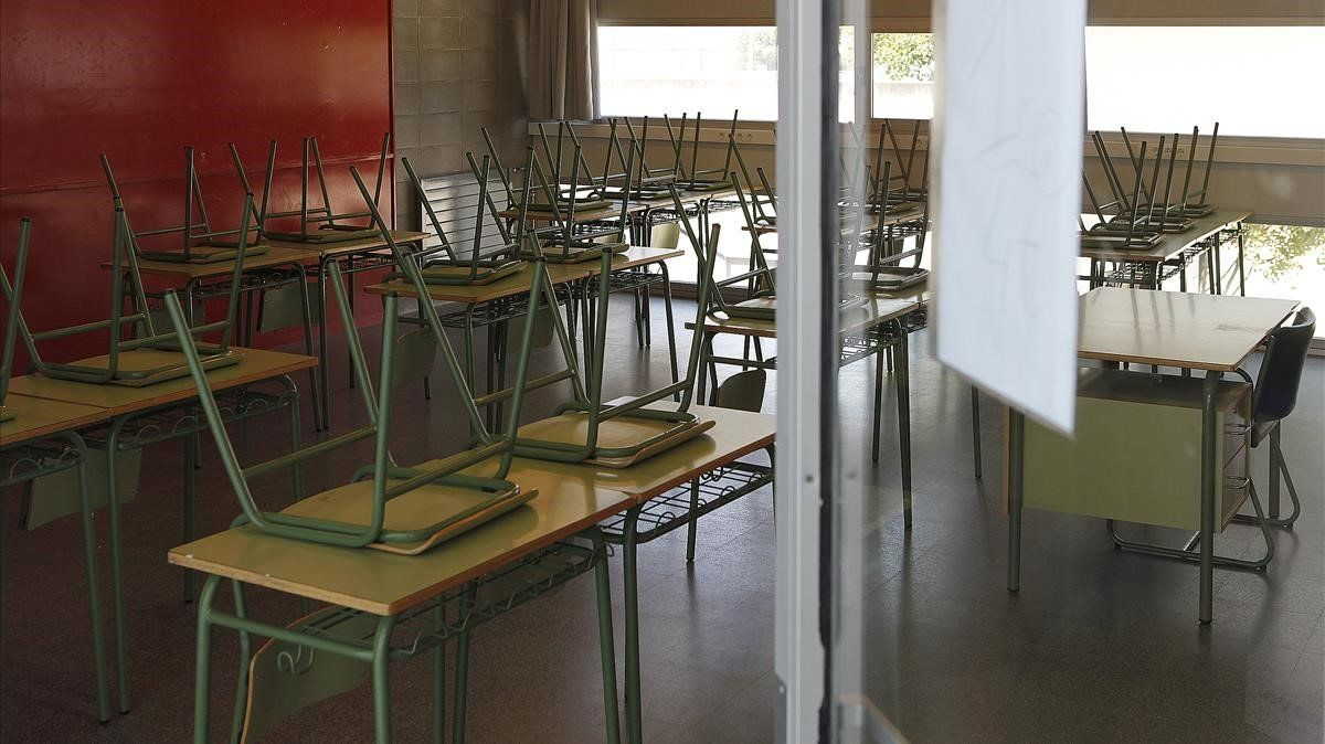 Una aula vacía en un centro educativo.