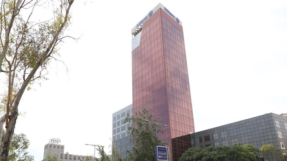 Sede de Allianz en la calle Tarragona de Barcelona.