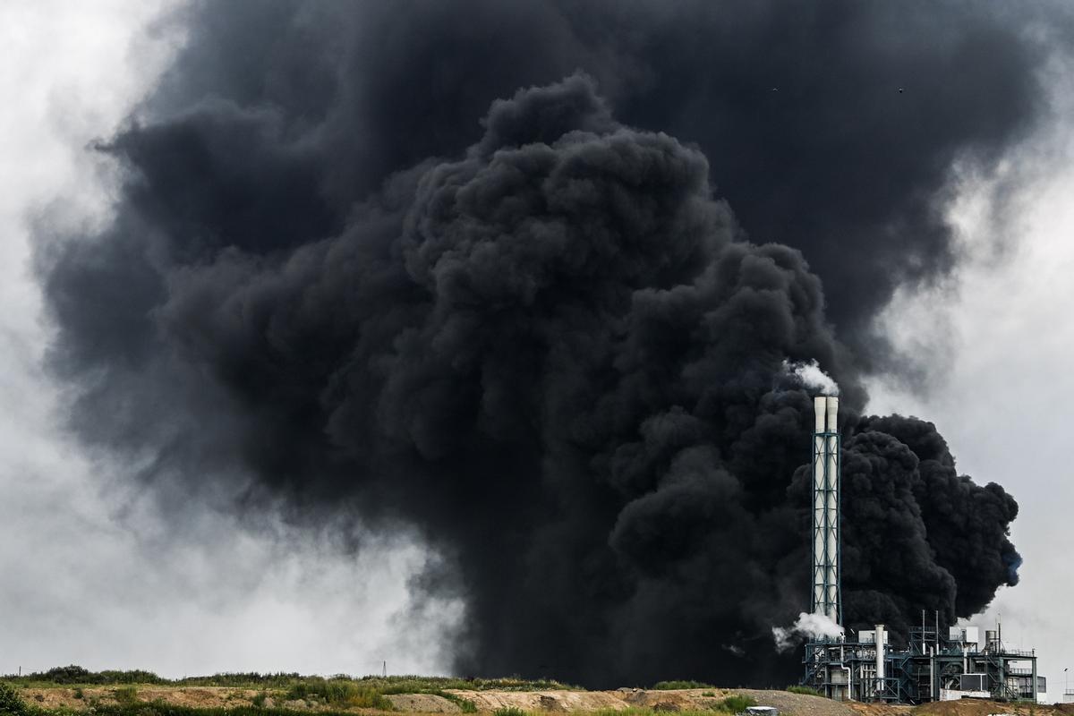 Explosión de una planta química en Leverkusen.