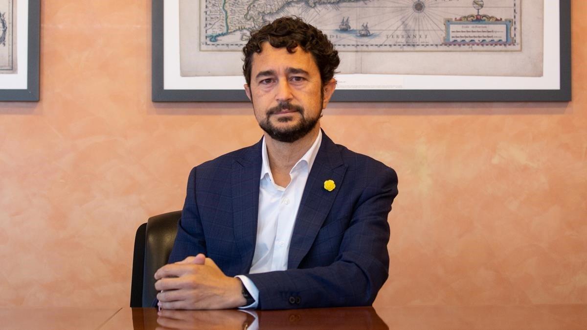 El Conseller de Territori i Sostenibilitat de la Generalitat, Damia Calvet.