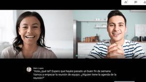 Google Meet ahora con subtítulos en español.