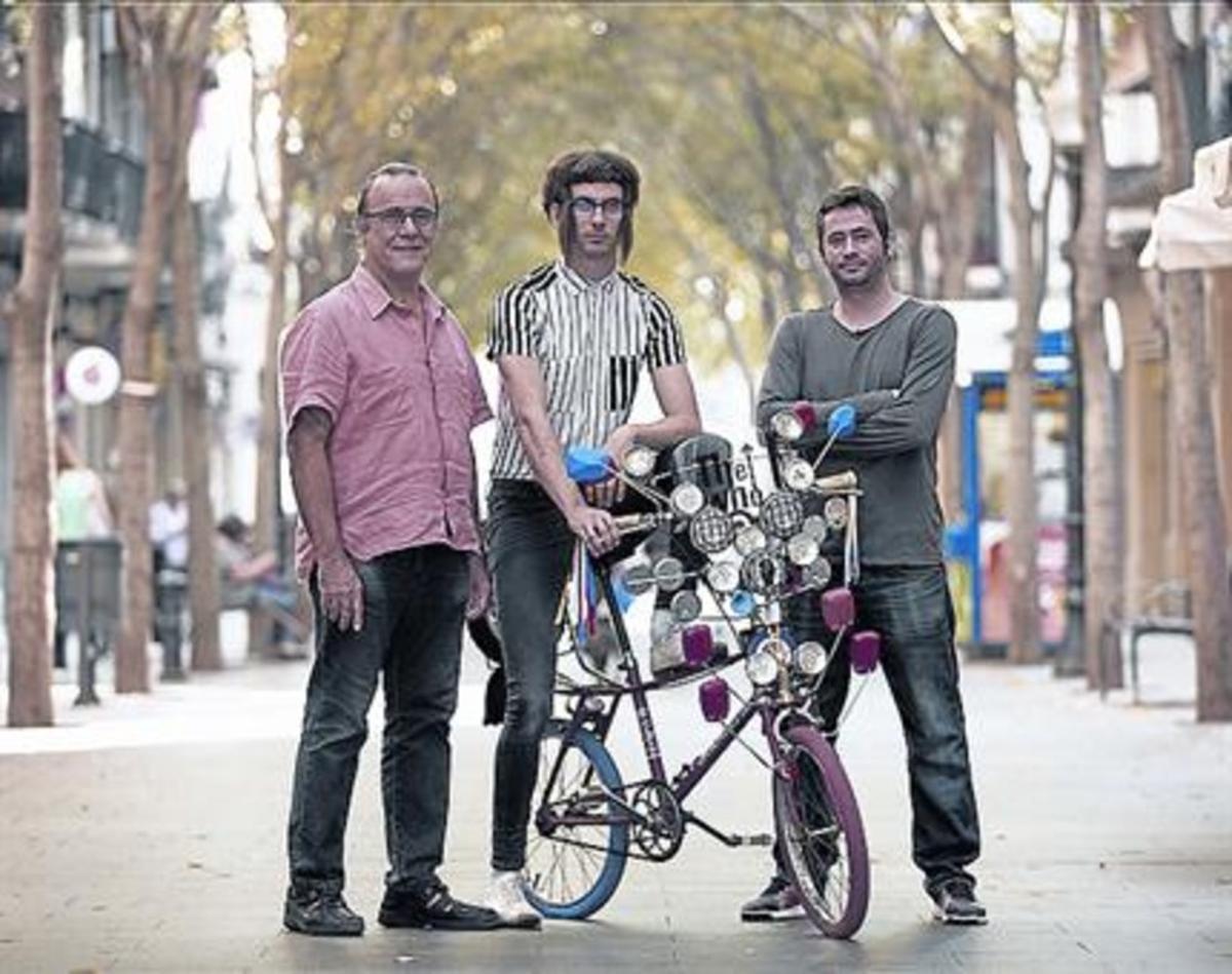 De izquierda a derecha, Jordi Gras, Joan Pernil y Robert Cot.