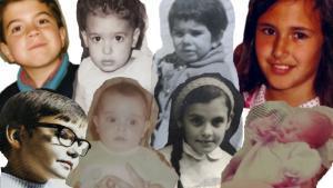 Los candidatos al 14-F, cuando eran pequeños