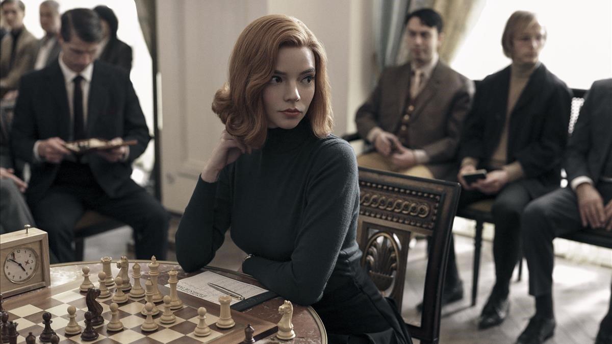 Anya Taylor-Joy en una imagen de 'Gambito de dama'.