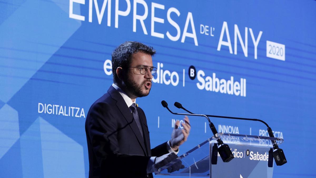 Intervenció del Molt Hble. President de la Generalitat de Catalunya, Sr. Pere Aragonès