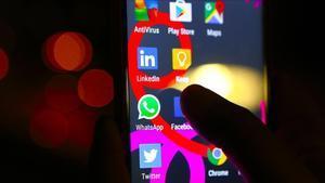 Distintas aplicaciones en un smartphone.