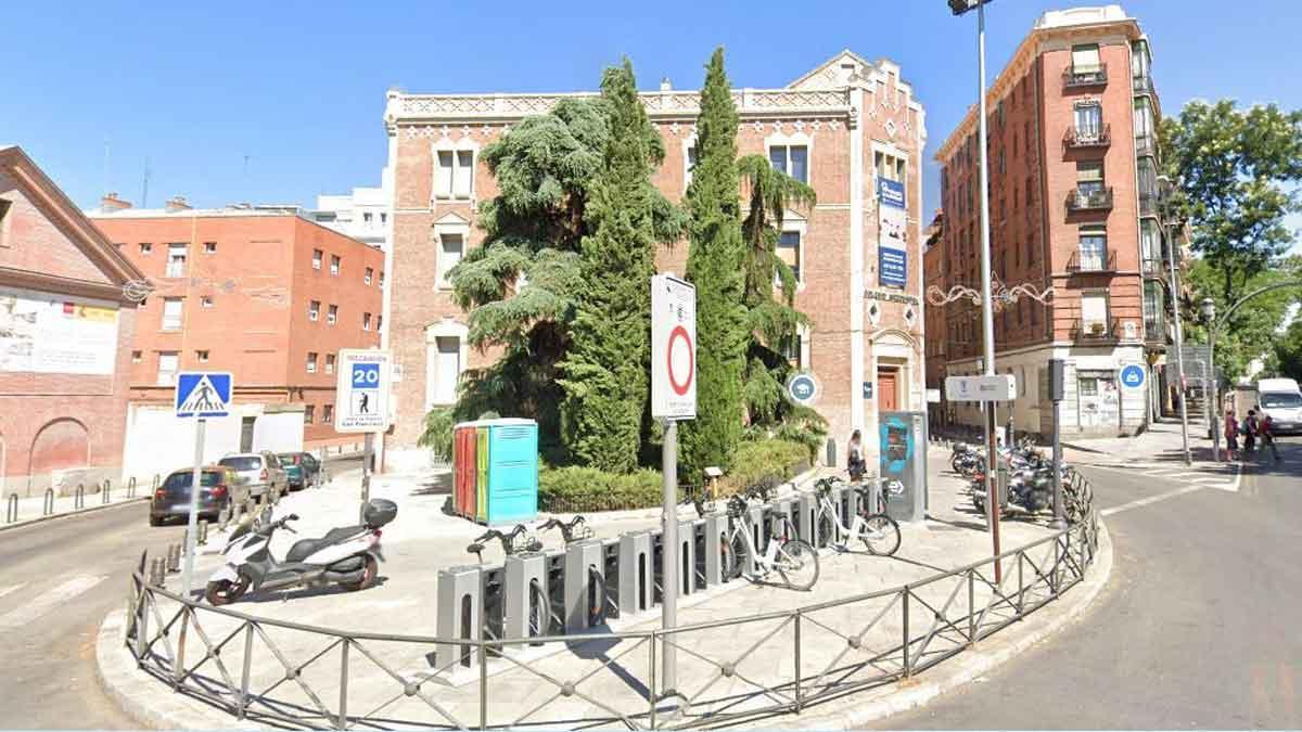 La plaza de San Francisco, en Madrid.