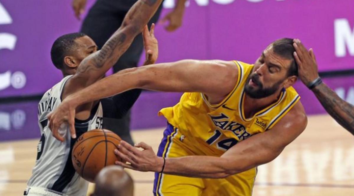 Marc Gasol, en un partido con los Lakers de la pasada temporada.