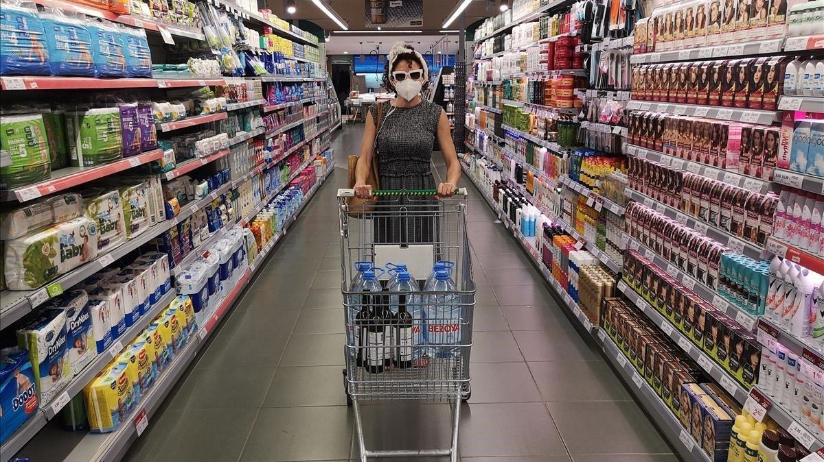 Laia Torrent en una imagen promocional de su nueva propuesta: 'Audioguía para comprar en un supermercado'.