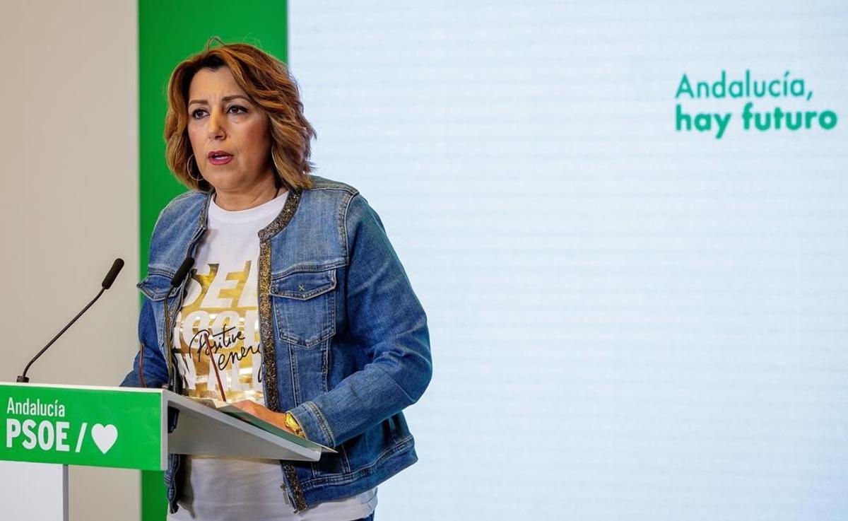 Susana Díaz se suma a la petición de adelanto de primarias en el PSOE andaluz.
