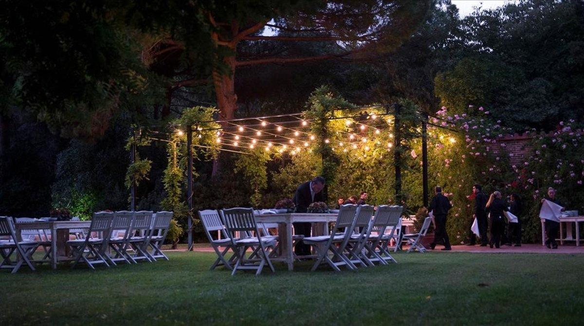 El jardín de Villa Bugatti.