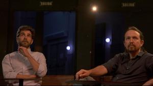 Gonzo con Pablo Iglesias en 'Salvados'.
