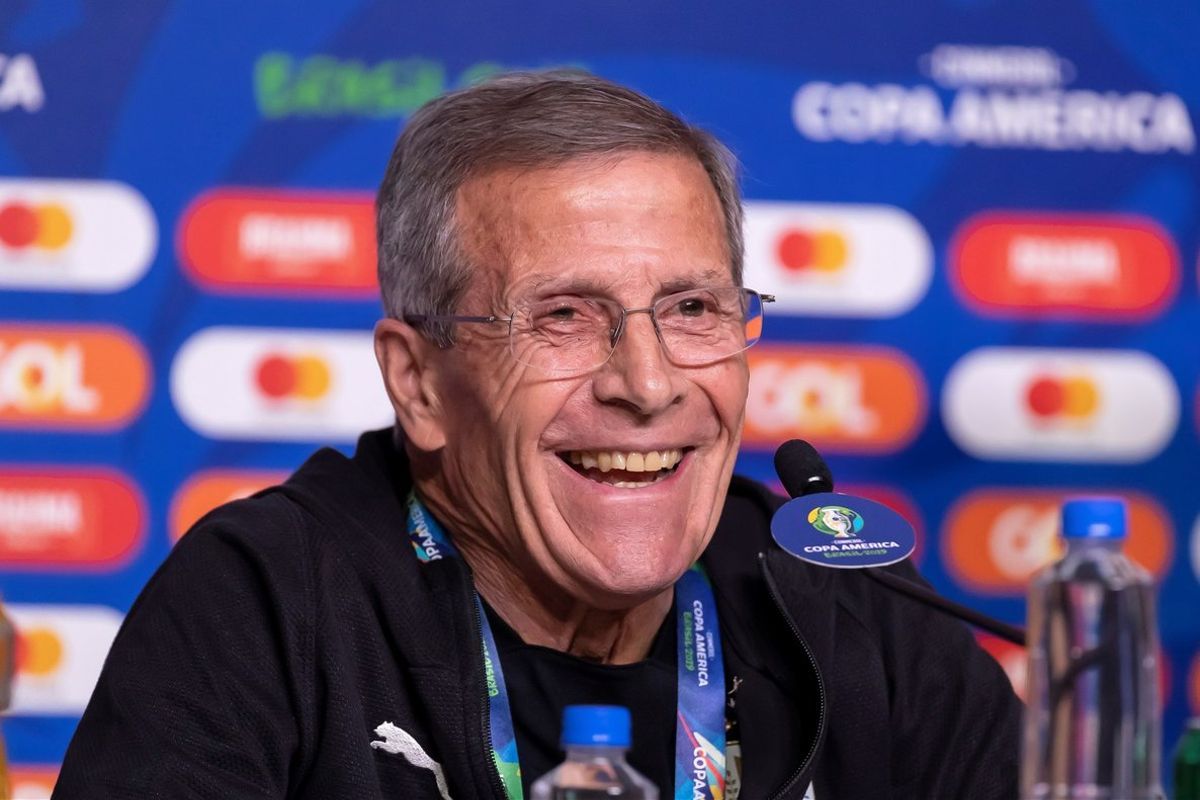 El seleccionador de Uruguay, Óscar Washington Tabárez.