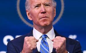 Joe Biden, en su comparecencia del 14 de enero del 2021.