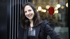 Cristina Morales, tras ganar el Premio Herralde.