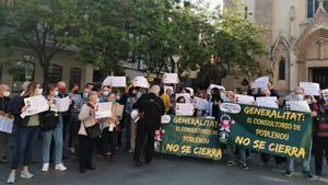 Protesta de los vecinos del barrio del Poblenou de Sabadell el 5 de mayo de 2021.