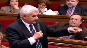 Pasqual Maragall i Artur Mas, van protagonitzar el 24 de febrer de 2005 un dels duels dialèctics més crispats que els parlamentaris recorden.