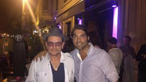 Bono, The Edge i Adam Clayton, en un comiat de solter a València