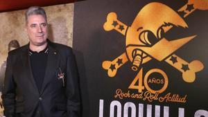 Loquillo, en la presentación en Madrid del disco '40 años de Rock 'n' roll actitud'