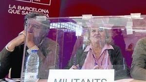 Urna en Sant Martí, en las pasadas primarias de Barcelona, en el 2011.
