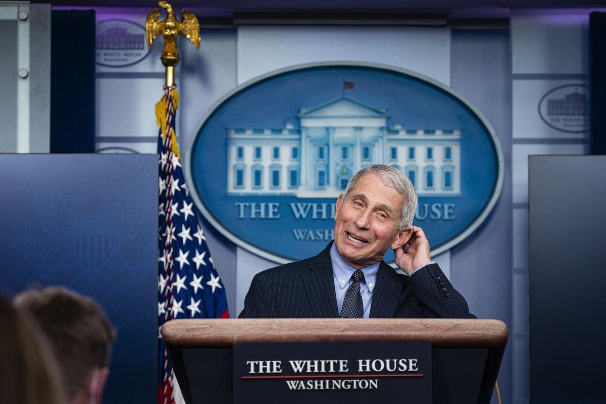 Anthony Fauci, director del Instituto Nacional de Alergia y Enfermedades Infecciosas de EE UU, en la Casa Blanca.