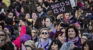 Manifestación del 8-M del 2020 en València.