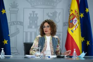La portavoz del Gobierno, María Jesús Montero, tras el Consejo de Ministros de este 8 de septiembre en la Moncloa.