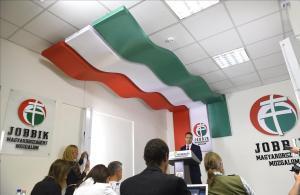 El líder del partido Jobbik, Gabor Vona, el pasado 2 de octubre tras cerrarse los colegios electorales del referemdum contra los refugiados.
