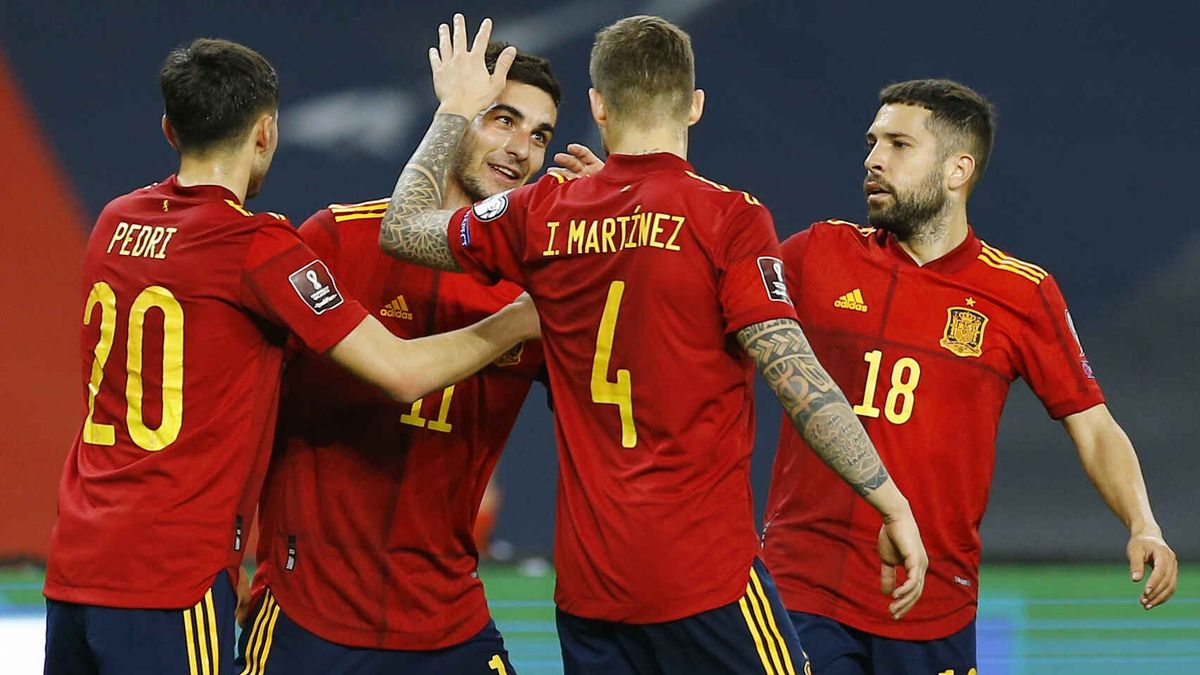 La selección española ganó 3-1 en la ida ante Kosovo en Sevilla.